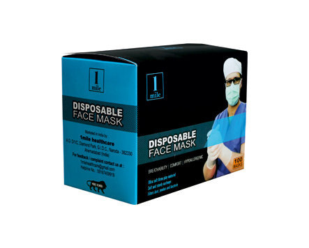 White Disposable Ear 3-ply Mask 1mile Loop - Face